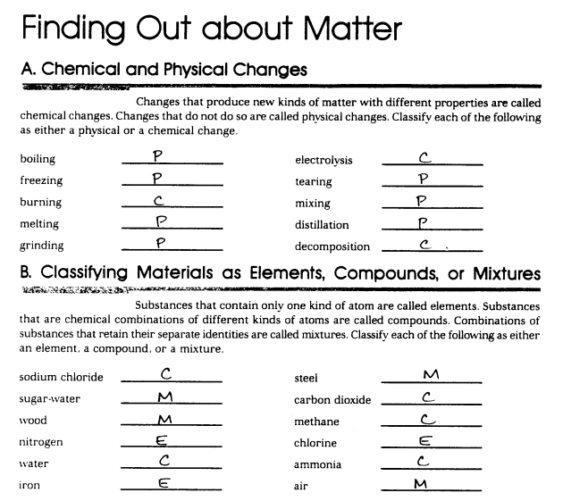 Ch2 Review Worksheet Answers Killarney Science – Mixture Worksheet